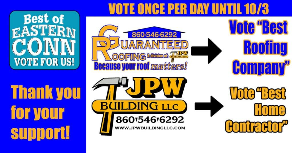 2020 best of eastern Connecticut roofing contractor nomination