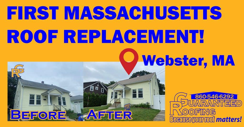 first Massachusetts roof replacement